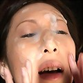 Noeru Fujiki facial cumshot was caused by her love of cum on her pretty face